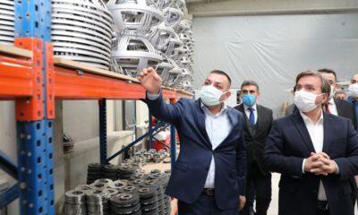Aksaray Valisi'nden istihdama katkı sağlayan iki büyük fabrikaya ziyaret