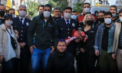 Aydınlı gazetecilerden polislere sürpriz