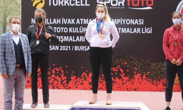 Bursa Büyükşehirli atletler İvak'ta 2 madalya kazandı