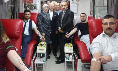 BİLDEF'in kan bağışı kampanyasına bir destek de Vekil Gözgeç'ten…