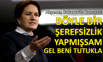 İYİ Parti Genel Başkanı Meral Akşener, Sakarya'da vatandaşlarla bir araya geldi