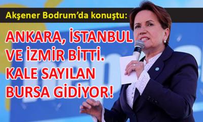 İYİ Parti Genel Başkanı Meral Akşener, Bodrum'da vatandaşlara hitap etti