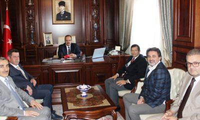 KSİAD ve Kayapa OSB yönetimlerinden Vali Canbolat'a ziyaret