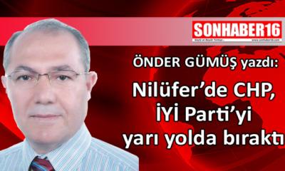 Nilüfer'de CHP, İYİ Parti'yi yarı yolda bıraktı