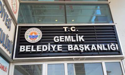 Gemlik Belediyesi tabelasına T.C. eklendi