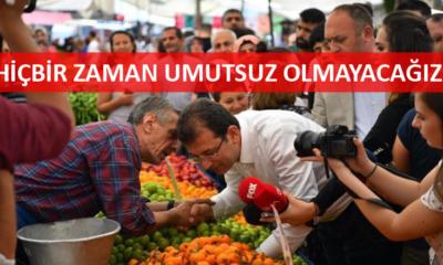 Ekrem İmamoğlu, Zeytinburnu Çarşamba Pazarı'nda vatandaşlar ve esnafla buluştu