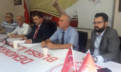 DP Bursa İl Başkanı Kaplan'dan Aktaş'a eleştiri…