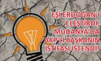 Eşinin tweetleri yüzünden Mudanya'da AKP'li başkanın istifası istendi