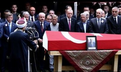 Erdoğan, cenazede Ahmet Davutoğlu'nu görmezden geldi!