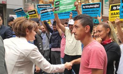 CHP'li Kaftancıoğlu, İBB'de işten çıkarılan vatandaşlarla görüştü