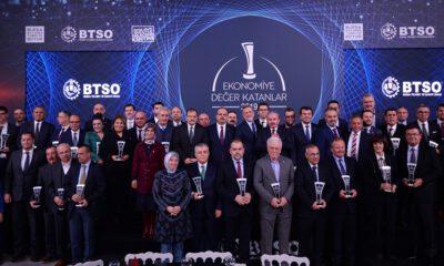 Bursa'da 'Ekonominin Oscarları' sahiplerini buldu