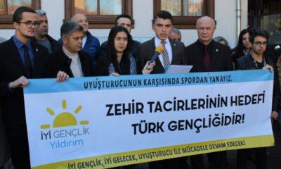 İYİ Parti Yıldırımlı gençler, uyuşturucuya karşı mücadele başlattı