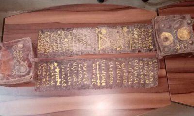Bursa'da ceylan derisi üzerine yazılmış Tevrat ele geçirildi