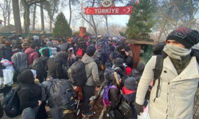 Edirne'de sınır kapılarında göçmen hareketliliği yaşanıyor