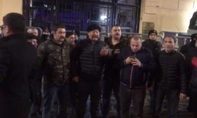 Rusya Konsolosluğu önünde İdlib protestosu