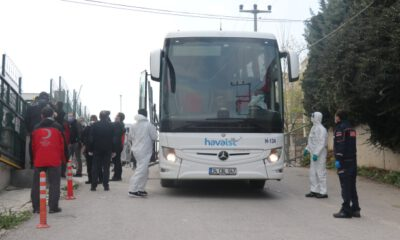 Yurt dışından getirilen 206 kişi Bursa'da yurtlara yerleştirildi