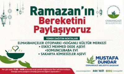 Osmangazi Belediyesi'nden 5 noktada sıcak yemek dağıtımı