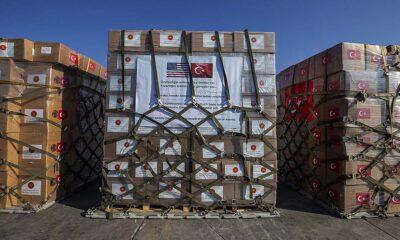 Türkiye'den ABD'ye tıbbi malzeme desteği