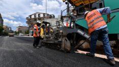 Osmangazi Belediyesi'nden sokağa çıkma yasağında asfalt atağı
