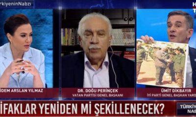İYİ Partili Dikbayır'ın gösterdiği fotoğraflar Perinçek'i çıldırttı!