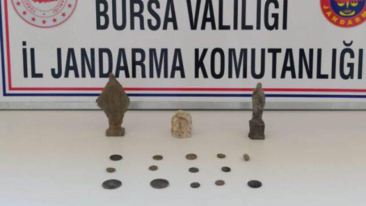 Bursa'da tarihi eser operasyonunda 2 şüpheli yakalandı