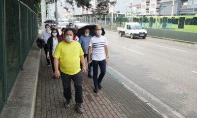 Bursa Barosu Başkanı Altun'un Ankara yürüyüşü başladı