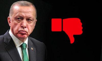 Cumhurbaşkanı Erdoğan'ın yayınında 'dislike' rekoru