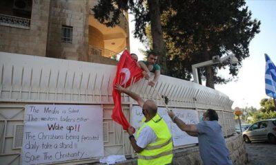 Doğu Kudüs'te Türk bayrağı yaktılar
