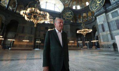 Cumhurbaşkanı Erdoğan'dan 'Ayasofya' klibi paylaşımı