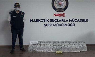 Malatya'da 195 kilogram eroin ele geçirildi