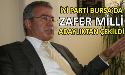 Zafer Milli, İYİ Parti Bursa İl Başkanlığı adaylığından çekildi