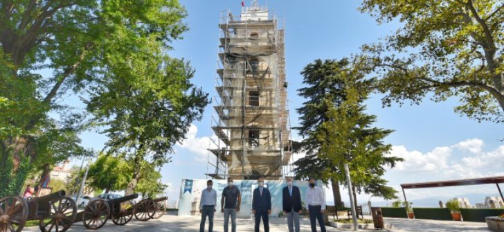 Bursa'daki tarihi Tophane Saat Kulesi eski ihtişamına kavuşuyor