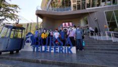 Bursa'ya gelen Kuveytli turistler, teleferiğin ilk yabancı misafirleri oldu