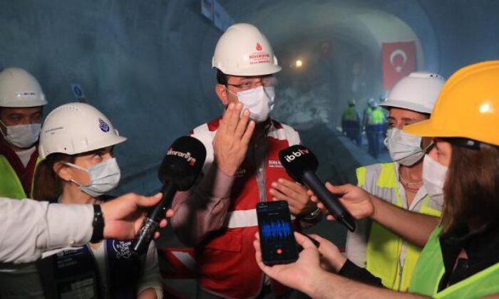 İmamoğlu, yerin 42 metre altında konuştu