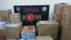Bursa'da kaçak olarak maske üreten fabrikaya operasyon