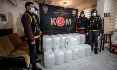 Bursa'da sahte içki kaynaklı ölümlerle ilgili 3 zanlı tutuklandı