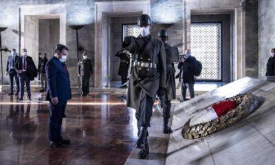 KKTC Başbakanı Saner, Anıtkabir'i ziyaret etti