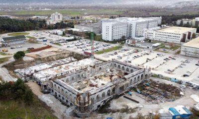 Uludağ Üniversitesi yerleşkesinde cami ve külliye inşaatı yükseliyor