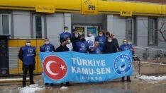Türk Kamu Sen Bursa Şubesi üyelerinden 'zam' tepkisi