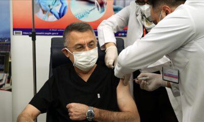 Cumhurbaşkanı Yardımcısı Oktay da Kovid-19 aşısı yaptırdı