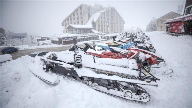 Kayak merkezlerinde beklenen kar yağışı başladı