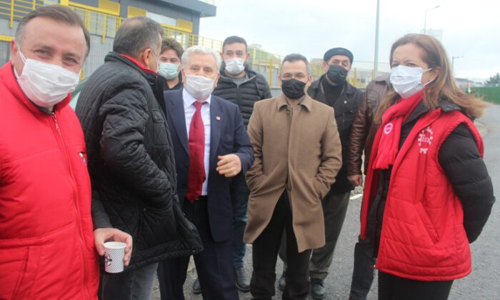 Yeniden Refah Partisi, grevdeki işçilere sahip çıktı