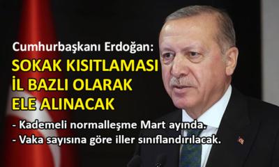 Erdoğan, corona virüste normalleşme takvimini açıkladı