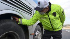 Kış lastiği takmayan 511 araca ceza kesildi