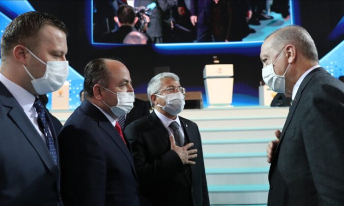 AK Parti Büyük Kongresi'ne 11 siyasi partinin temsilcileri katıldı