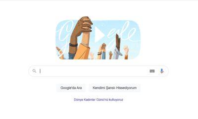 Google 8 Mart Dünya Kadınlar Günü'nü kutladı