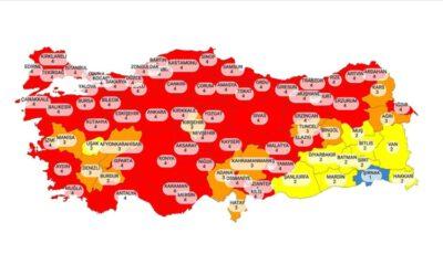 Kovid-19 risk değerlendirme haritası açıklandı