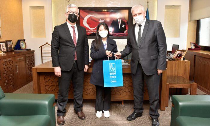 Koreli stajyerlerden BUSKİ'ye ziyaret