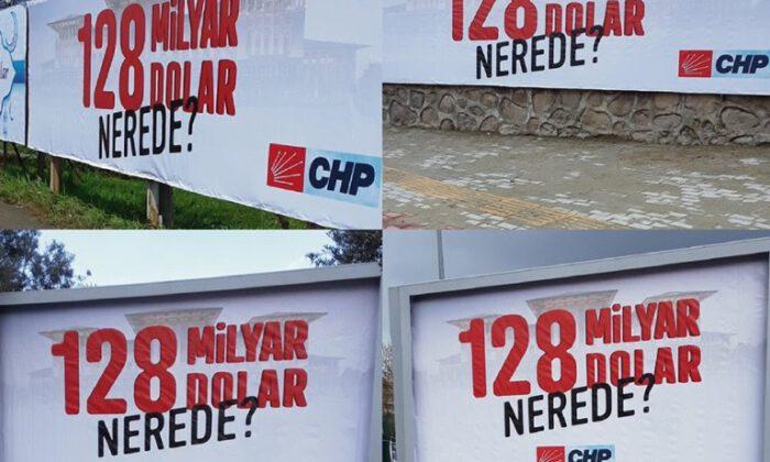 '128 milyar dolar nerede?' afişleri hakkında karar