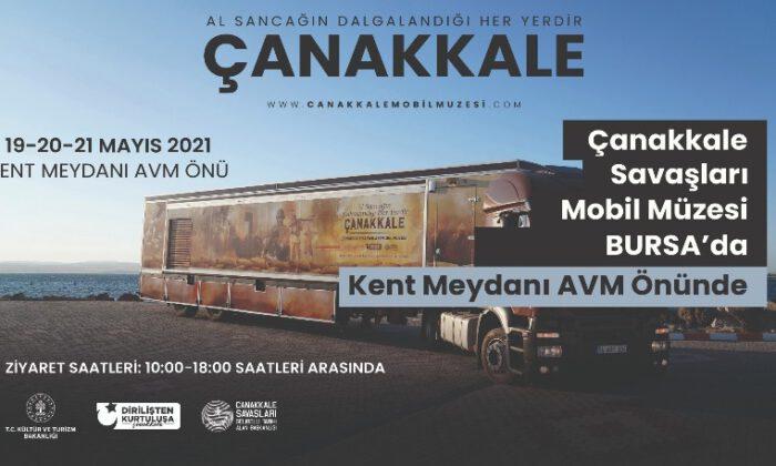 Çanakkale Savaşları Mobil Müze Tırı Bursa'da